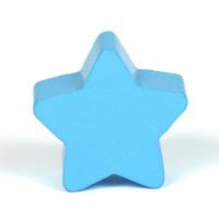 Motivpärla stjärna, himmelsblå