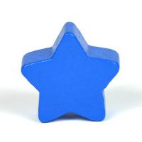 Motivpärla stjärna, blå