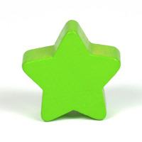 Motivpärla stjärna, ljusgrön