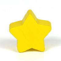 Motivpärla stjärna, solgul