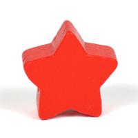 Motivpärla stjärna, röd