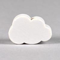 Motivpärla litet moln, vit
