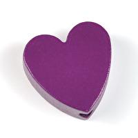 Motivpärla hjärta, plommon - utförsäljning