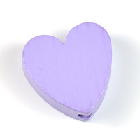 Motivpärla hjärta, lavendel – utförsäljning