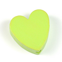 Motivpärla hjärta, lime - utförsäljning