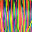 Satinsnöre, regnbåge, 1,5mm