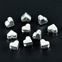 Metallhjärtan, silver, 6mm