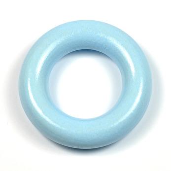 Liten träring utan hål, ljusblå