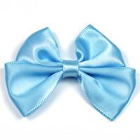 Dubbel rosett av sidenband, 55mm, ljusblå