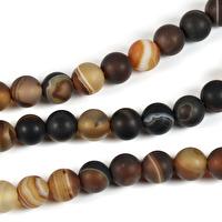 Lätt frostade agat pärlor
