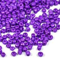 8/0 Seed Beads, opaque lila, 3mm