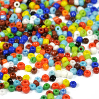 12/0 Seed Beads, opaque mix, 2mm