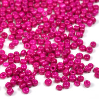 12/0 Seed Beads, opaque fuchsia, 2mm