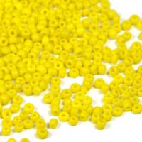 12/0 Seed Beads, opaque gul, 2mm