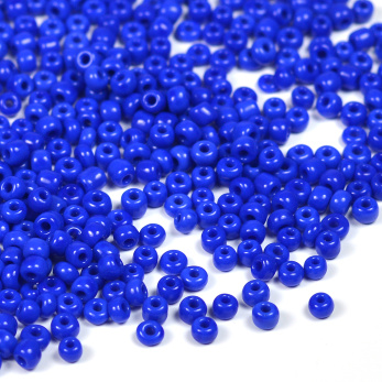 12/0 Seed Beads, opaque marinblå, 2mm