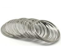 Memory wire för armband, 5,5cm, antiksilver
