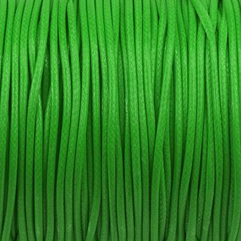 Vaxat polyestersnöre, ljusgrön, 1,5mm