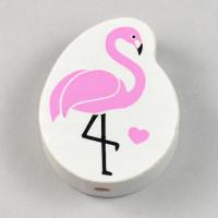 Motivpärla flamingo, rosa
