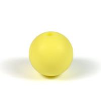 Silikonpärlor 15mm, pastellgul