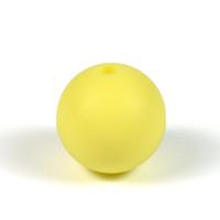 Silikonpärlor 20mm, pastellgul