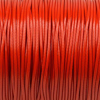 Vaxat polyestersnöre, röd, 1,5mm