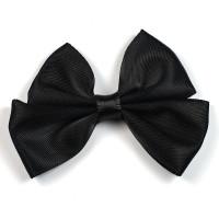 Dubbel rosett av sidenband, 55mm, svart