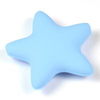 Stor silikonstjärna, ljusblå