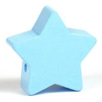 Motivpärla stor stjärna, ljusblå
