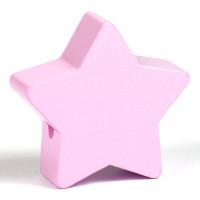 Motivpärla stor stjärna, ljusrosa