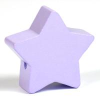 Motivpärla stor stjärna, lavendel