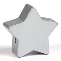 Motivpärla stor stjärna, silver