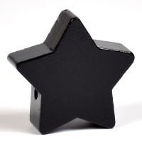 Motivpärla stor stjärna, svart