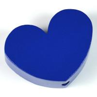 Motivpärla stort hjärta, mörkblå