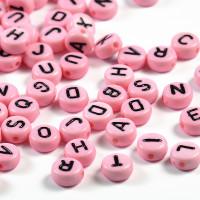 Bokstavspärlor rosa