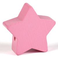 Motivpärla stor stjärna, rosa