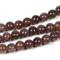 Jade pärlor, choklad, 6mm