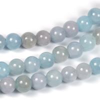 Jade pärlor, dimblå, 6mm