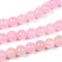 Jade pärlor, ljusrosa, 6mm