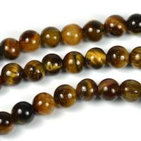 Tigeröga pärlor, 6mm