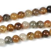 Lodolit kvarts pärlor, 6mm