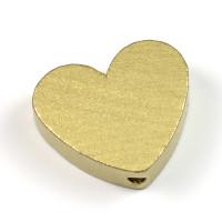 Motivpärla hjärta, guld
