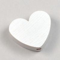 Motivpärla hjärta, vit