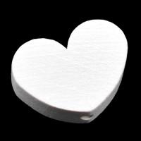 Motivpärla stort hjärta, vit