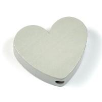 Motivpärla hjärta, ljusgrå