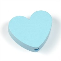 Motivpärla hjärta, ljusblå