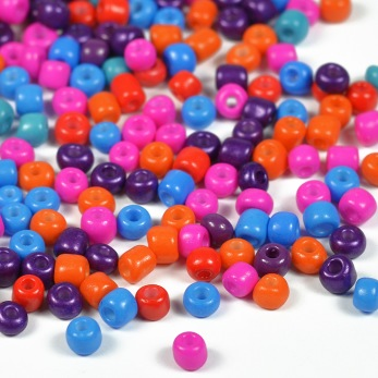 6/0 Seed beads, glad mix, 4mm – utförsäljning