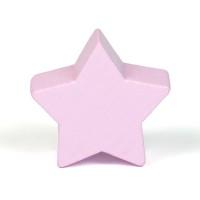 Motivpärla stjärna, ljusrosa