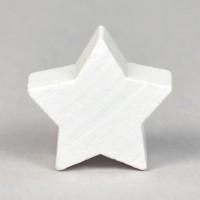 Motivpärla stjärna, vit