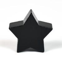 Motivpärla stjärna, svart
