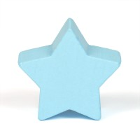 Motivpärla stjärna, ljusblå
